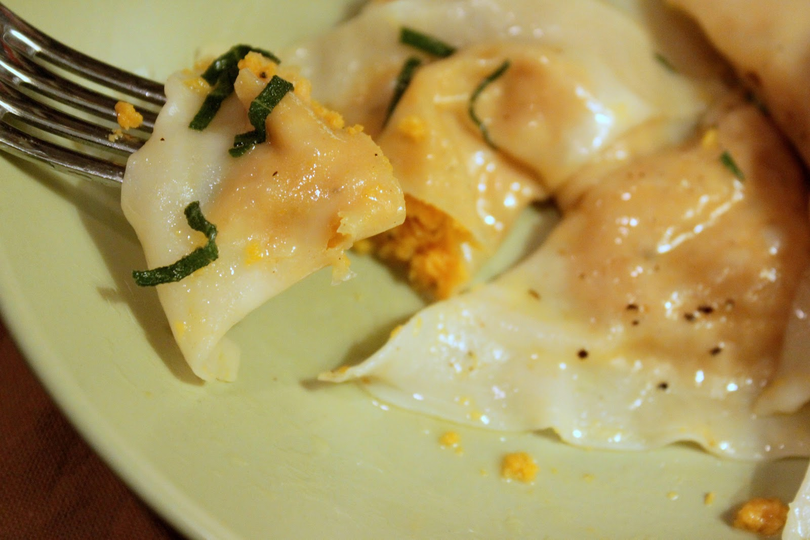 Butternut Squash Ravioli with Sage Butter Sauce