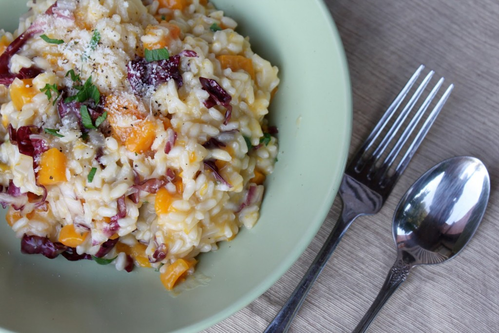 "Squash Risotto with Radicchio & Parmesan recipe from ""Sunday Suppers at Lucques""… WOW"