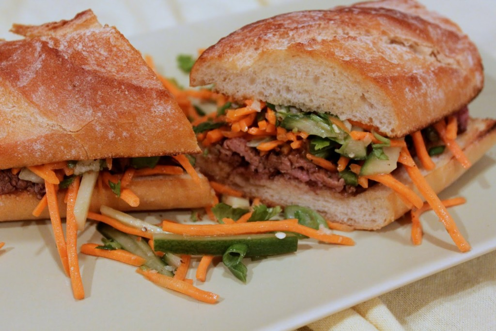 A Fresh Idea for Dinner: Homemade Vietnemese Steak Sandwiches (Bánh Mì)