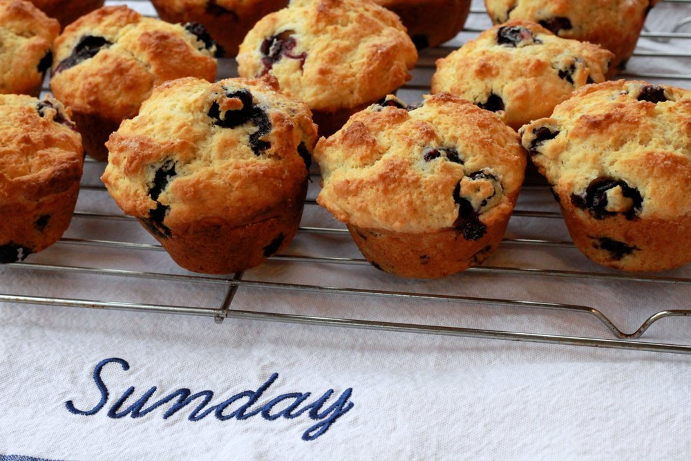 Lemon Blueberry Muffins to brighten your winter day