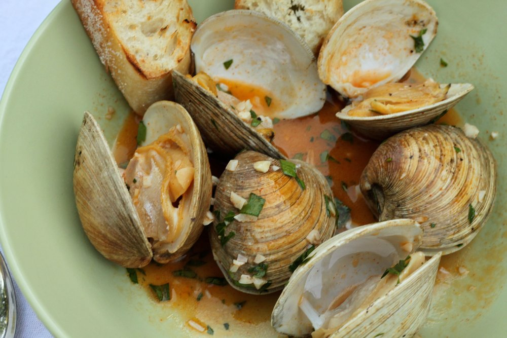 Happy as a Grilled Clam in White Wine, Butter & Smoked Paprika
