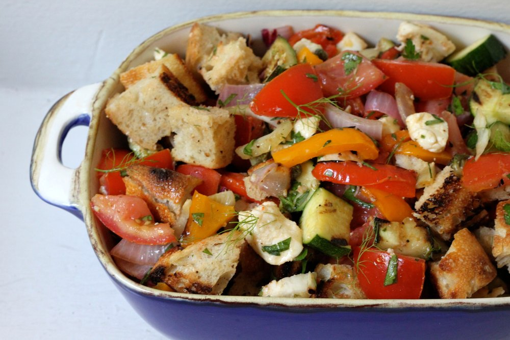 End of Summer Grilled Panzanella
