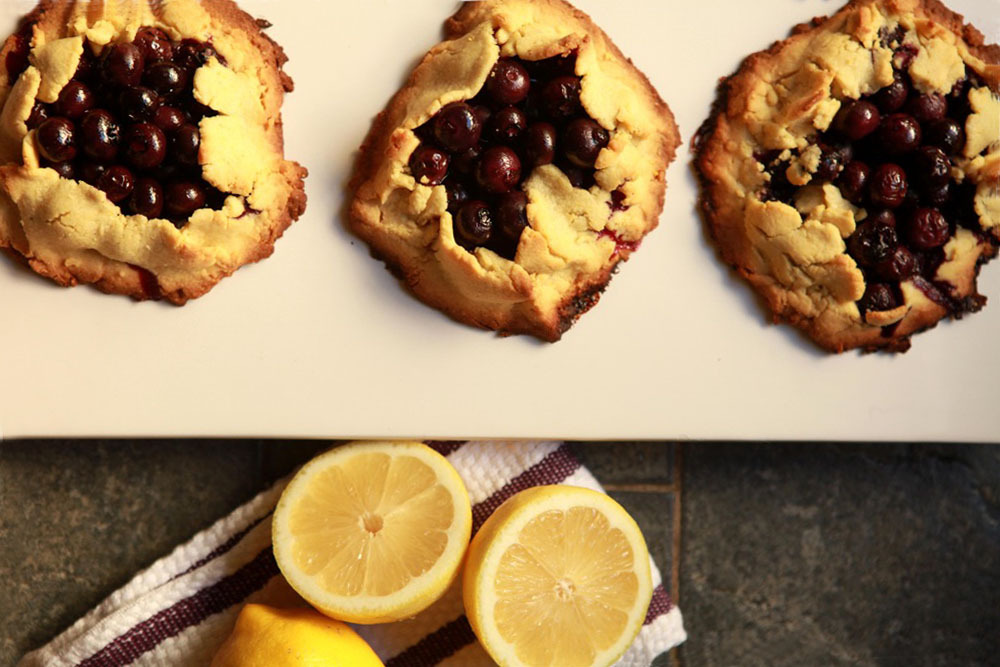 Blueberry Cornmeal Crostatas & gorgeous guest photography. Happy 4th of July!!