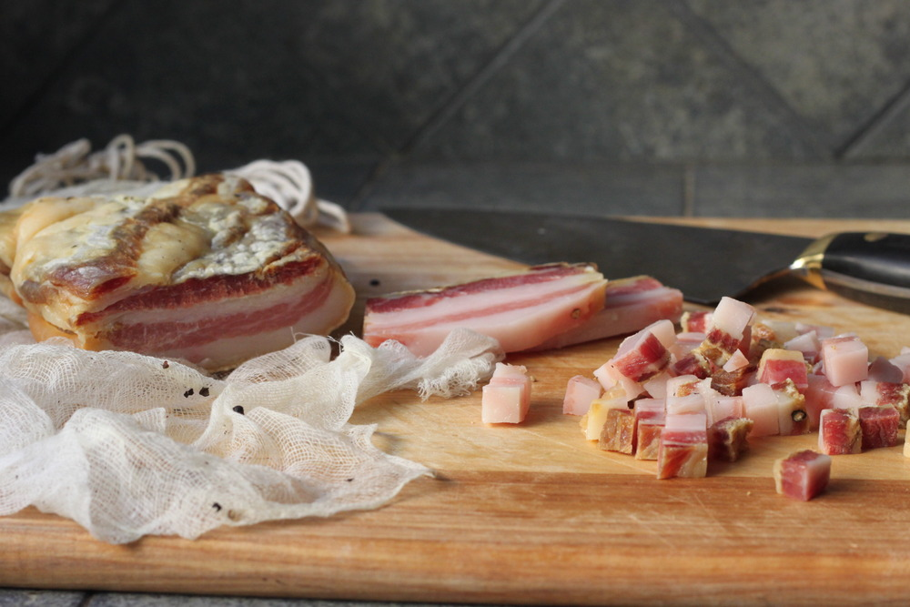 A Still Life with Pork: Homemade Pancetta and two rustic recipes