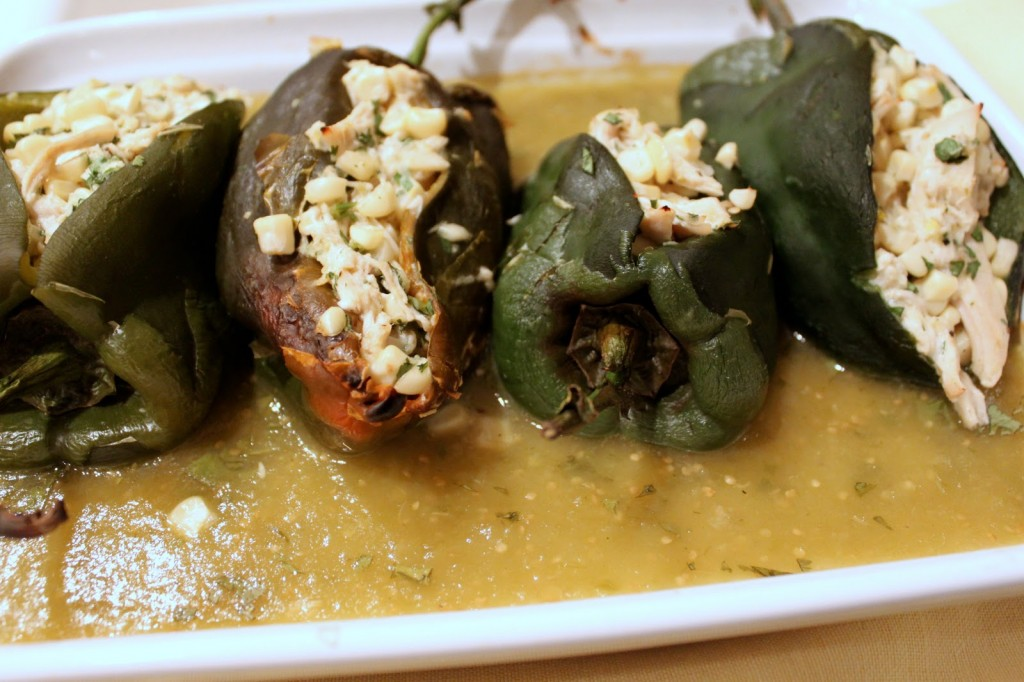 A favorite recipe from Martha Stewart: Corn-Stuffed Poblano Chiles