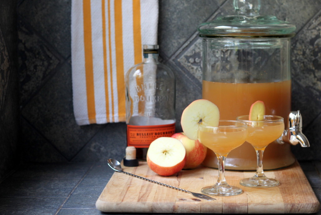 For Your Next Fall Get-Together: Apple Cider Punch with Ginger and Bourbon