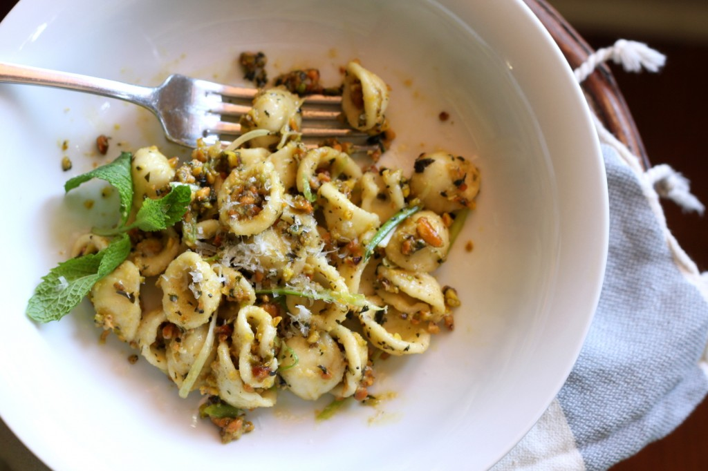 A Vibrant & Unique Pasta from Sicily: Orechiette with Pistachio Pesto