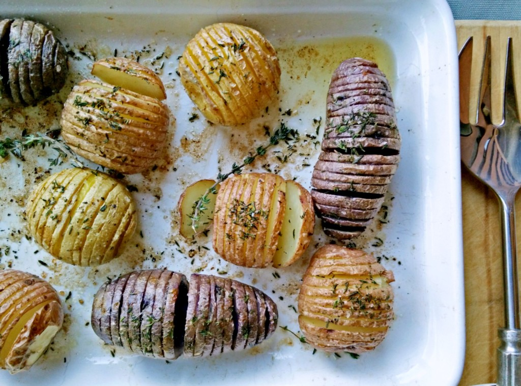 The Paragon of Potatoes: Roasted Hasselbacks with Breadcrumbs & Thyme