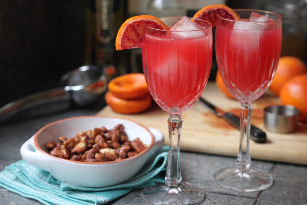 A Sunset-Colored Winter Cocktail: Blood Orange Gin & Ginger Fizz