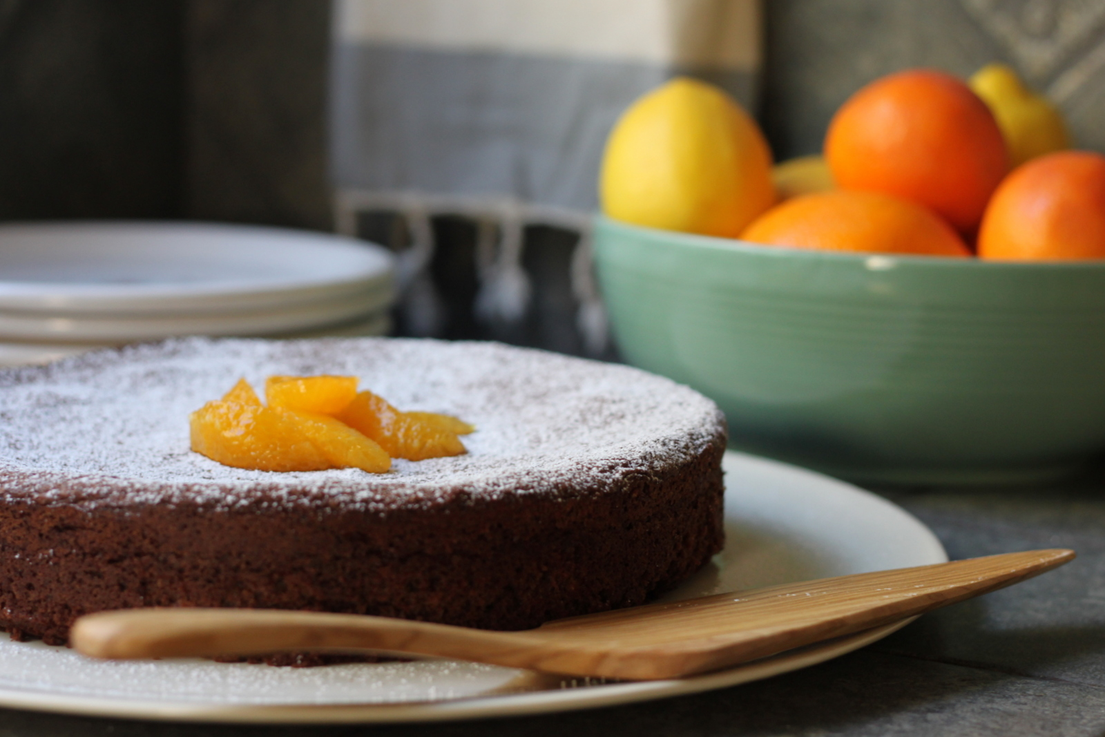 Lidia S Chocolate Almond Orange Cake