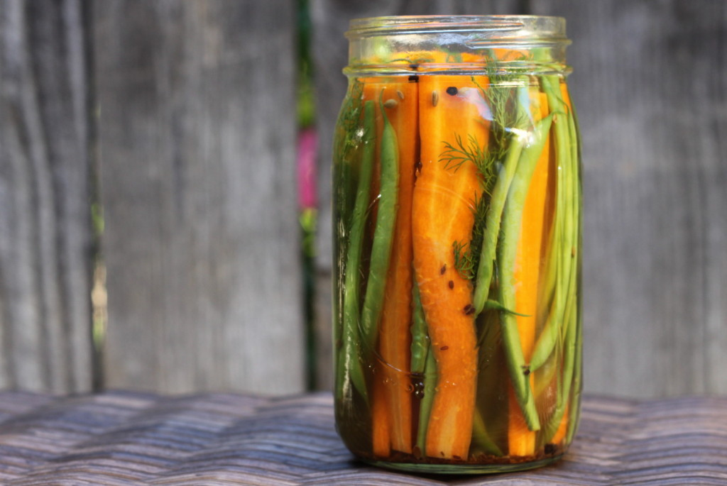 An Addictive Snack: Carrot & Haricot Vert Dill Pickles