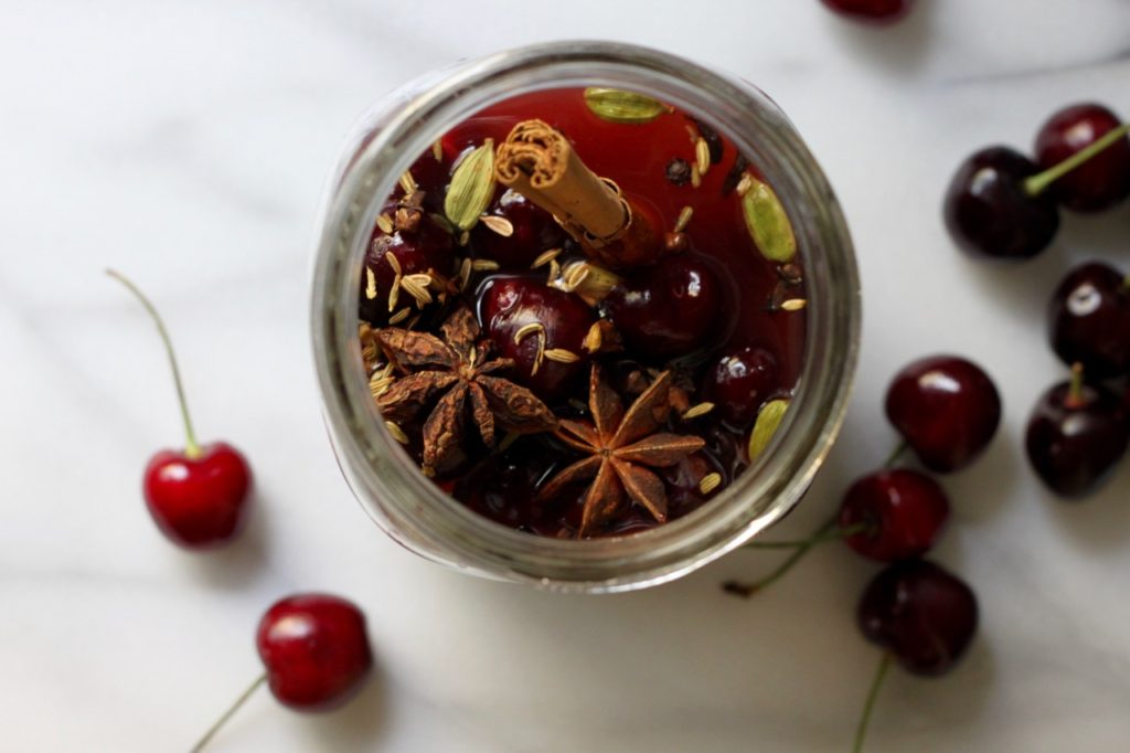 For Sweet-&-Sour Summer Drinks: Spiced Cherry Maple Shrub